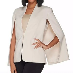 H by HALSTON Stretch Suiting Cape Blazer Jacket